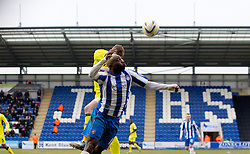 COLCHESTER, ENGLAND - Saturday, February 23, 2013: Tranmere Rovers' Ash Taylor in action against Colchester United's Jabo Ibehre during the Football League One match at the Colchester Community Stadium. (Pic by Vegard Grott/Propaganda)