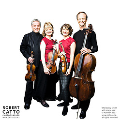 Douglas Beilman;Gillian Ansell;Helene Pohl;Rolf Gjelsten (New Zealand String Quartet)  at Victoria University, Wellington, New Zealand.
