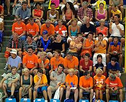 28-07-2005: VOLLEYBAL: WK KWALIFICATIE: NEDERLAND-FINLAND: LE CANNET FRANKRIJK<br /> <br /> Nederland wint met 3-0 van Finland en is nog volop in de race om het WK van volgend jaar te halen - <br /> <br /> ©2005-WWW.FOTOHOOGENDOORN.NL