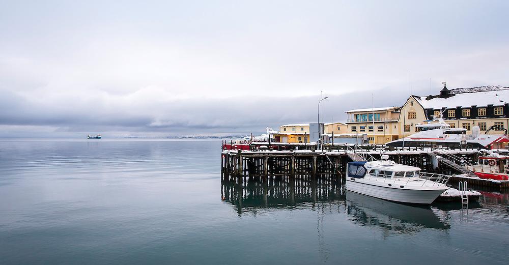 Harbor of Harstad, Norway