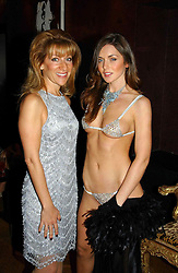 Left to right, ALIZA REGER and RUTH GIBBON at a party to celebrate a new collection of sexy underware by Janet Reger called 'Naughty Janet' held at 5 Cavendish Square, London on 19th October 2004.<br />
