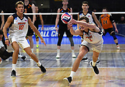 Pepperdine Waves outside hitter Michael Wexter (1) digs the ball against the Princeton Tigers during an NCAA Championships opening round match, Wednesday, April 30, 2019, in Long Beach, Calif. Pepperdine defeated Princeton 25-23, 19-25, 25-16, 22-25, 15-8.