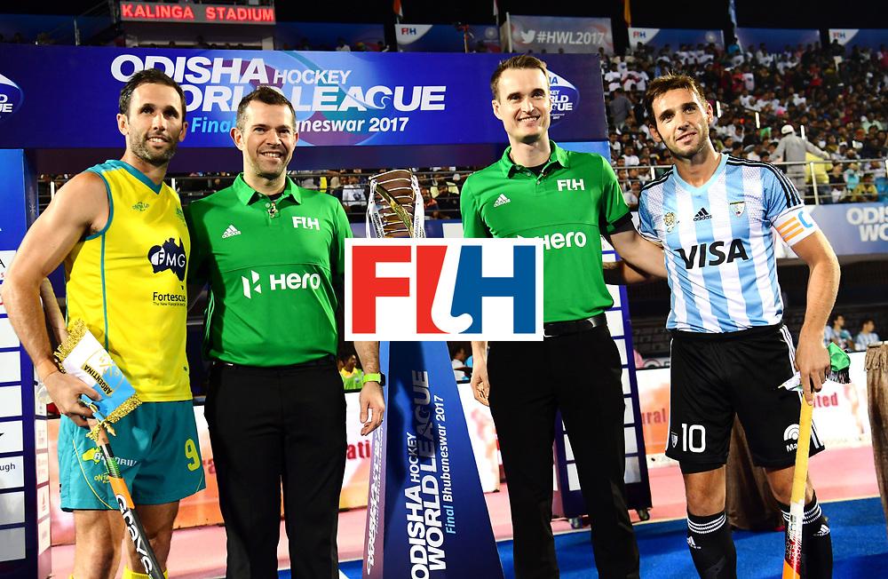 Odisha Men's Hockey World League Final Bhubaneswar 2017<br /> Match id:22<br /> Argentina v Australia Final<br /> Foto: Line Up<br /> COPYRIGHT WORLDSPORTPICS FRANK UIJLENBROEK