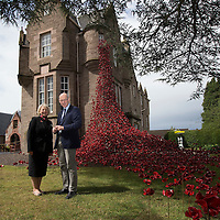 Deputy First Minister John Swinney visits the 'Weeping Windows' Poppy display at The Black Watch Castle, Perth… 01.07.16<br />