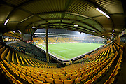 Carrow Road Football Stadium during the Sky Bet Championship match between Norwich City and Brighton and Hove Albion at Carrow Road, Norwich, England on 22 November 2014.