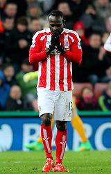 Stoke City's Victor Moses reacts after missing a chance - Photo mandatory by-line: Matt McNulty/JMP - Mobile: 07966 386802 - 11/02/2015 - SPORT - Football - Stoke - Britannia Stadium - Stoke City v Manchester City - Barclays Premier League