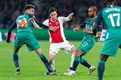 08-05-2019 NED: Semi Final Champions League AFC Ajax - Tottenham Hotspur, Amsterdam<br /> After a dramatic ending, Ajax has not been able to reach the final of the Champions League. In the final second Tottenham Hotspur scored 3-2 / Nicolas Tagliafico #31 of Ajax, Dele Alli #20 of Tottenham Hotspur, Lucas #27 of Tottenham Hotspur