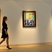 London Jan 29 Exhibition of the Yves Saint Laurent and Pierre Berge Collection ahead of the sale that will take place in Paris  from the 23rd of February. The 700+ items auction include several top pieces including  Picasso, Mandrian, Matisse Gericault paintings, valued between £ 5m and £ 30 Millions The Bodenick table fountain  from 1630 and a  E Gray Chair valued in excess of £2 millions<br /> <br /> <br /> <br /> <br /> ***Standard Licence  Fee's Apply To All Image Use***<br /> Marco Secchi<br />  tel +44 (0) 845 050 6211<br />  e-mail ms@msecchi.com <br /> www.marcosecchi.com