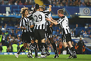 London - Wednesday September 22nd 2010: Ryan Taylor of Newcastle scores his sides 2nd goal and celebrates during the Carling Cup 3rd Round match at Stamford Bridge, London. (Pic by Paul Chesterton/Focus Images)