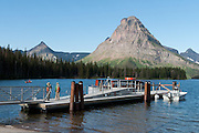 Two Medicine Lake, boat launch, Sinopah Mountain (8271 feet or 2521 meters), Glacier National Park, Montana, USA