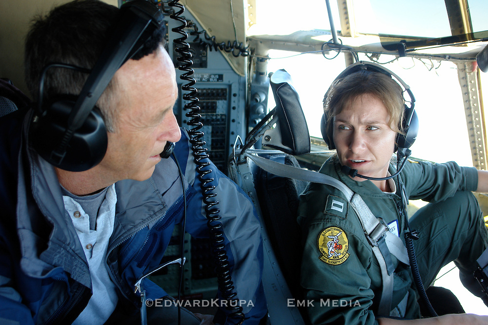 Production Still -Out in the Cold. Flying with the International Ice Patrol on a Herculies C-130 off the coast of Newfoundland.