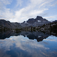 We spent 4 days backpacking the Ansel Adams Wilderness. On our last night we camped at Garnet Lake. We found a campsite with our very own beach. This was our beachside view.