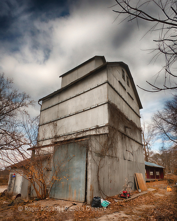 Weston Missouri Old Grain Elevator Back