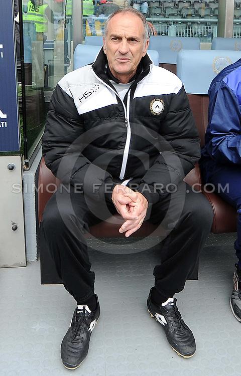 Udine, 19 aprile 2014.<br /> Serie A 2013/2014. 33^ giornata.<br /> Stadio Friuli<br /> Udinese vs Napoli.<br /> Nella foto: Francesco Guidolin, allenatore Udinese.<br /> &copy; foto di Simone Ferraro