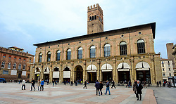 General view of the Piazza Maggiore, Bologna, Italy<br /> <br /> (c) Andrew Wilson | Edinburgh Elite media