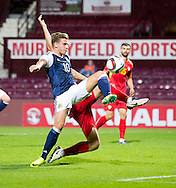 Scotland's Jason Cummings during Scotland Under-21 v FYR Macedonia,  UEFA Under 21 championship qualifier  at Tynecastle, Edinburgh. Photo: David Young<br /> <br />  - &copy; David Young - www.davidyoungphoto.co.uk - email: davidyoungphoto@gmail.com