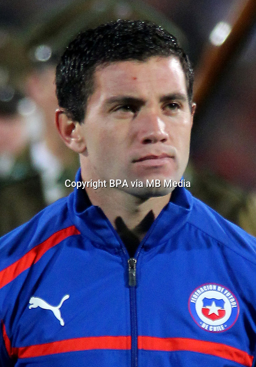 Football Fifa Brazil 2014 World Cup / <br /> Chile National Team - <br /> Eugenio Mena of Chile