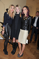 Left to right, ALINA KOHLEM, REBECCA CORBIN-MURRAY and ELAN GENTRY at a Private View of 'Calder - After The War' at Pace London, Burlington Gardens, London on 18th April 2013.