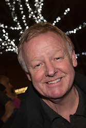 © Licensed to London News Pictures. 17/11/2012. London, England. Highgate resident, TV presenter and comedian Les Dennis sports a Movember beard at the Chrismas lights switching-on ceremony by Alex Zane in Highgate Village, North London. Photo credit: Bettina Strenske/LNP