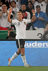 GER, Commerzbank Arena, GER, Stuttgart, FSP, LS, Deutschland (GER) vs Brasilien (BRA), im Bild .. Torjubel Mario Götze (GER/Borussia Dortmund) zum 2:0 // durch the friendly ship between Germany (GER) vs Brasil (BRA) in Commerzbank Arena, Stuttgart, on 2011/08/11 EXPA Pictures © 2011, PhotoCredit: EXPA/ nph/  Hessland       ****** out of GER / CRO  / BEL ******