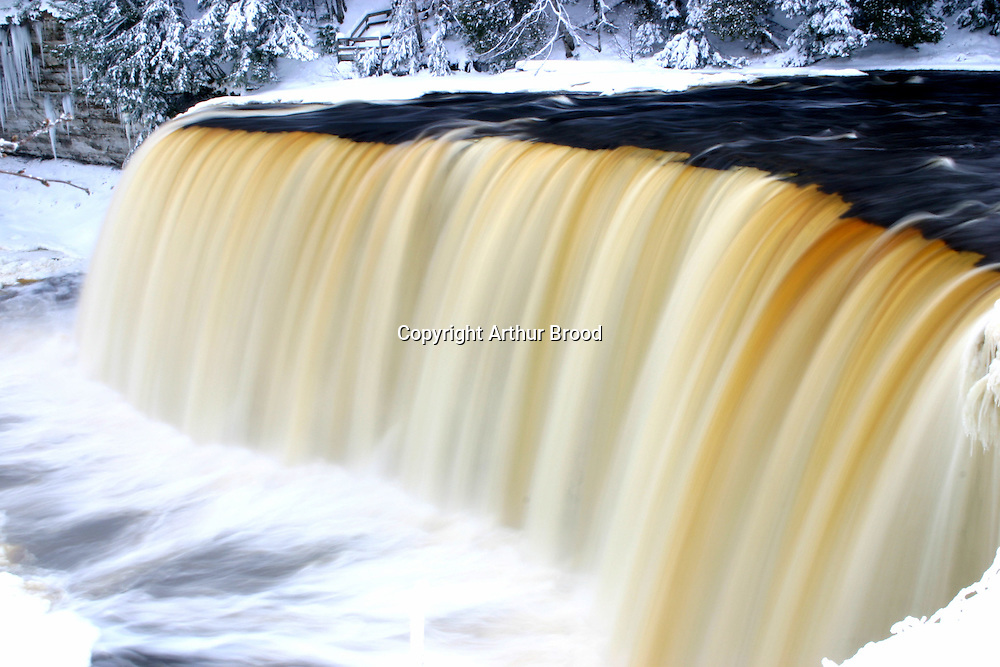 Tahquamenon Falls after a December snowstorm.