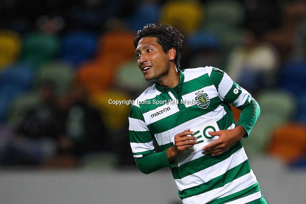 Joie Junya Tanaka  - 28.01.2015 - Sporting / Vitoria Setubal -Coupe de la ligue- Portugal-<br /> Photo : Carlos Rodrigues /  Icon Sport