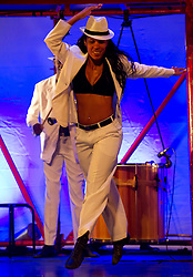 © Copyright licensed to London News Pictures. 01/11/2010. Ms Sandra Mara Silva Gabriel, Bale de Rua, Peacock Theatre, London. A high energy mix of hip hop, African dance, samba and capoeira, hit Brazilian dance show Balé de Rua makes its debut at the Peacock Theatre.