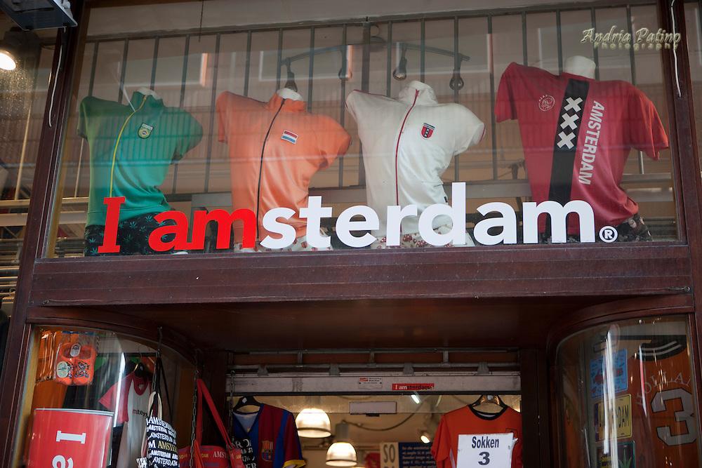 I Amsterdam store front souvenir shop, Amsterdam