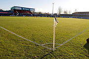 general view of Macclesfield town stadium (Moss Rose) EFL Sky Bet League 2 match between Macclesfield Town and Bradford City at Moss Rose, Macclesfield, United Kingdom on 30 November 2019.