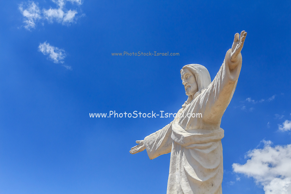 Cristo Blanco statue on the Andes summit near Cusco, peru