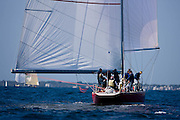 American Eagle, 12 Meter Class, racing in the North American Championship regatta.