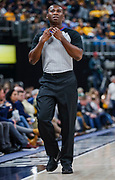 INDIANAPOLIS, IN - DECEMBER 31: NBA referee James Williams #60 is seen during the Indiana Pacers and Atlanta Hawks game at Bankers Life Fieldhouse on December 31, 2018 in Indianapolis, Indiana. NOTE TO USER: User expressly acknowledges and agrees that, by downloading and or using this photograph, User is consenting to the terms and conditions of the Getty Images License Agreement. (Photo by Michael Hickey/Getty Images) *** Local Caption *** James Williams