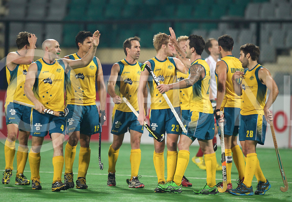 NEW DELHI - Hock World League  Final Men<br /> 23 ENG v AUS (3 / 4) 2-1<br /> England third place<br /> foto: Australia.<br /> FFU PRESS AGENCY COPYRIGHT FRANK UIJLENBROEK