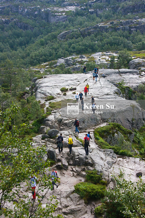 Hking in the mountain, Forsand, Rogaland, Norway