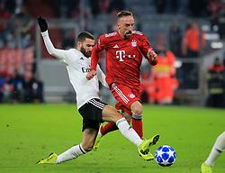 27.11.2018, Champions League  Saison 2018/ 2019, . Bayern vs Benfica Lissabon, Allianz Arena, Muenchen, Sport, im Bild:..Rafa Silva ( Benfica) vs Franck Ribery (FCB)..DFL REGULATIONS PROHIBIT ANY USE OF PHOTOGRAPHS AS IMAGE SEQUENCES AND / OR QUASI VIDEO...Copyright: Philippe Ruiz..Tel: 089 745 82 22.Handy: 0177 29 39 408.e-Mail: philippe_ruiz@gmx.de. (Credit Image: © Philippe Ruiz/Xinhua via ZUMA Wire)