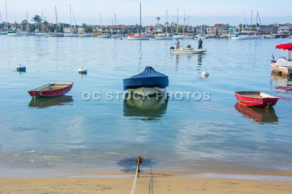 Balboa Island Boats and Waterfront Homes in Newport Beach