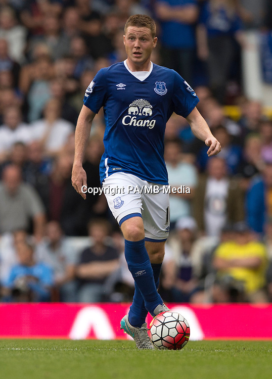 "Everton's James McCarthy during the Barclays Premier League match at White Hart Lane, London. PRESS ASSOCIATION Photo. Picture date: Saturday August 29, 2015. See PA story SOCCER Tottenham. Photo credit should read: Anthony Devlin/PA Wire. RESTRICTIONS: EDITORIAL USE ONLY No use with unauthorised audio, video, data, fixture lists, club/league logos or ""live"" services. Online in-match use limited to 45 images, no video emulation. No use in betting, games or single club/league/player publications."