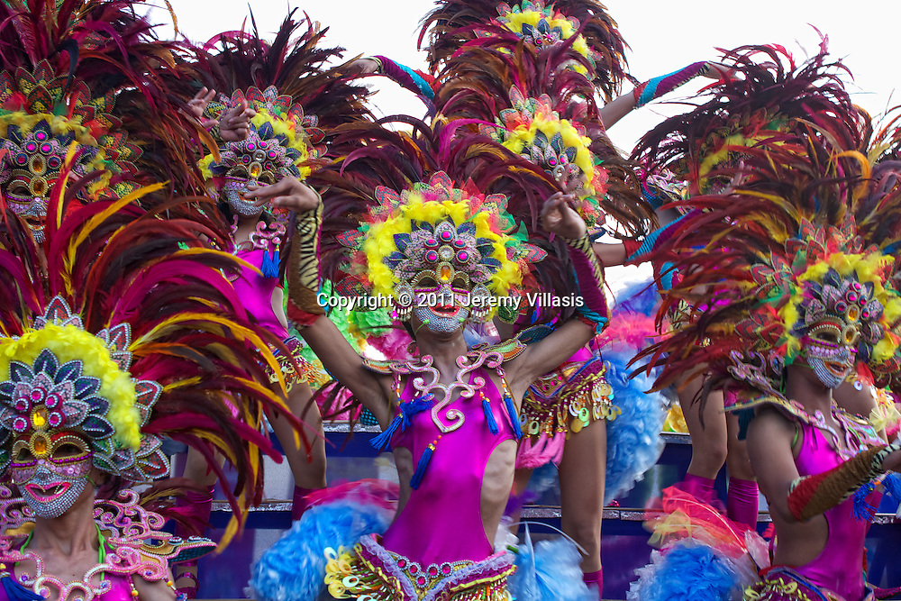 Streetdancing during the 32nd Masskara Festival in Bacolod City, the Philippines.