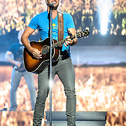 BRISTOW, VA - May 30th 2014 - Luke Bryan performs at Jiffy Lube Live in Bristow, VA. Bryan's 2013 album, Crash My Party, has sold over 1.8 million copies in the U.S. and was the third best selling album of 2013. (Photo by Kyle Gustafson / For The Washington Post)