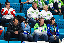 Disappointment of Slovenia fans during ice hockey match between Belarus and Slovenia at IIHF World Championship DIV. I Group A Kazakhstan 2019, on May 2, 2019 in Barys Arena, Nur-Sultan, Kazakhstan. Photo by Matic Klansek Velej / Sportida