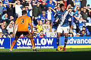 Birmingham City's Demarai Gray on the ball during the Sky Bet Championship match between Birmingham City and Wolverhampton Wanderers at St Andrews, Birmingham, England on 31 October 2015. Photo by Shane Healey.