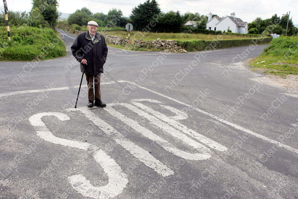 Paddy O'Gorman pictured at the bad cross near Clonlara on Thursday. <br />