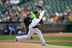 OAKLAND, CA - AUGUST 03:  Scott Kazmir #26 of the Oakland Athletics pitches against the Oakland Athletics during the first inning at O.co Coliseum on August 3, 2014 in Oakland, California.  The Kansas City Royals defeated the Oakland Athletics 4-2.  (Photo by Jason O. Watson/Getty Images) *** Local Caption *** Scott Kazmir