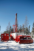 Major Drilling, Sandvik large drilling maching from  in action on a gold field., Osisko, Malartic Project, Malartic, Val d'Or, Québec, Canada, 122008021222008. © Photo Marc Gibert / adecom.ca