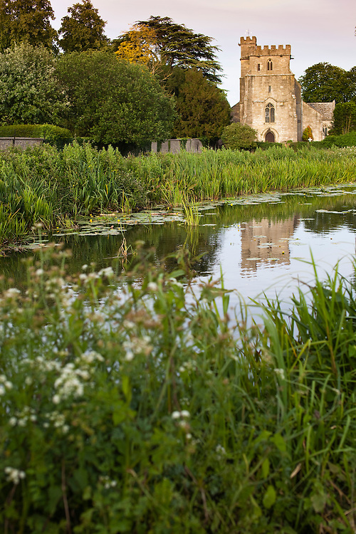 St.Cyrs church on the Stroudwater Canal, Gloucestershire, UK