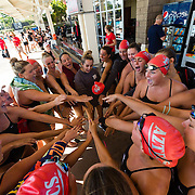 14 October 2016: The San Diego State Aztecs women's swimming & diving team took on UCSD and Vanderbilt in a dual meet at the Aztec Aquaplex.
