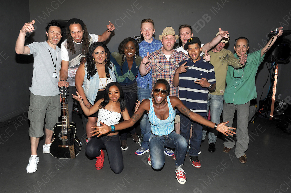 10.JULY.2013. LONDON<br /> <br /> SOUNDSKOOL - WWW.THESOUNDSKOOL.CO.UK<br /> 0208 509 6070 / SIMON@DV8TRAINING.COM<br /> <br /> PHOTOCALL AT BODEN'S PERFORMING ART COLLEGE IN BARNET, LONDON TO PROMOTE 'SOUNDSKOOL' A PROJECT SET UP BY SIMON GORDON TO HELP YOUNG PEOPLE NOT IN EMPLOYMENT, EDUCATION OR TRAINING. MUSICAL ARTISTS CHIPMUNK AND SONIQUE (WHO PERFORMED) ATTENDED TO SUPPORT THE EVENT WHICH FEATURED PERFORMANCES FROM THE STUDENTS, INCLUDING, KEILAH MILLER, MYLES MONTARIO, KEYA ROBINSON LAKE AND NK. DANIEL WALKER (FROM THE VOICE) ALSO PERFORMED AND IS A TUTOR AT THE SCHOOL.<br /> <br /> SOUNDSKOOL WAS STARTED IN 2008 BY SIMON GORDON. SIMON IS A MUSIC PROFESSIONAL WHO IS WELL KNOWN IN THE UNDERGROUND SCENE; HE HAS BEEN A DJ AND MUSIC PRODUCER FOR MANY YEARS.  HIS TWO PASSIONS IN LIFE ARE MUSIC AND WORKING WITH YOUNG PEOPLE. ONE OF HIS OBSERVATIONS WAS THE POWER OF MUSIC; SIMON NOTICED THAT MUSIC INSPIRES AND COMMUNICATES WITH YOUNG PEOPLE IN A WAY THAT NO OTHER MEDIUM DOES.  <br /> <br /> SIMON THOUGHT IT WOULD BE A GOOD IDEA TO ENGAGE DISENGAGED YOUNGSTERS INTO BEING PRODUCTIVE WITHIN THEIR OWN COMMUNITIES VIA THE MEDIUM OF MUSIC, SO HE STARTED SOUNDSKOOL, BY ENLISTING THE SUPPORT OF ALL HIS MUSIC INDUSTRY ASSOCIATES SIMON WAS ABLE TO BEGIN DJ WORKSHOPS IN LARGE ESTATES IN LONDON, WORKING WITH YOUNG PEOPLE NOT IN EMPLOYMENT, EDUCATION OR TRAINING ('NEET'), YOUNG PEOPLE WITH SPECIAL EDUCATION NEEDS AND YOUNG PEOPLE WHO FOUND MAINSTREAM EDUCATION CHALLENGING. IN ESSENCE SOUNDSKOOL PARTNERED MUSIC INDUSTRY PROFESSIONALS WITH THE YOUNG PEOPLE ON THE ESTATES AND IT WORKED. THE EVIDENCE WAS IN THE CREATIVE GENIUS FOUND IN THESE YOUNG PEOPLE WHO WERE NOW ABLE TO EXPRESS THEIR VOICES THREW THEIR OWN MUSIC AND VIDEO PRODUCTIONS. BASED AT THE MILL HILL MUSIC COMPLEX, MILL HILL, AND LONDON, SOUNDSKOOL STARTED TO GROW FROM JUST DJ WORKSHOPS INTO MC&rsquo;ING, SINGING, MUSIC PRODUCTION, LIVE INSTRUMENTS AND FASHION WORKSHOPS.&nbsp; SOUNDSKOOL STARTED PARTNERING WITH LIKEMIND