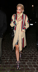Singer Rita Ora and boyfriend Ricky Hilfiger enjoy a night out at the popular Chiltern Firehouse in London, UK. 12/09/2014 <br />