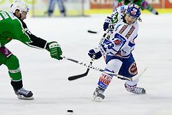 Andreas Wiedergut (EC Rekord Fenster VSV, #33) during ice-hockey match between HDD Tilia Olimpija and EC Rekord Fenster VSV in 38th Round of EBEL league, on Januar 6, 2012 at Hala Tivoli, Ljubljana, Slovenia. (Photo By Matic Klansek Velej / Sportida)