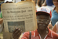 The WASHINGTON POST at the March on Washington in August 27, 1983--the twentieth anniversary of the March on Washington in 1963...Photograph by Dennis Brack bb23